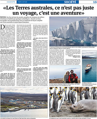 """Le Journal de l'île"" newspaper - April 2016"