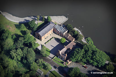 aerial photograph of  Rufford Mill Nottinghamshire England UK