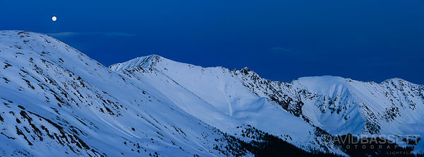 Moon and Avalanches | Loveland Pass, CO