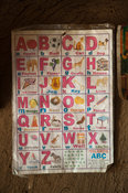 Poster on wall in a Kenyan home showing the English Alphabet