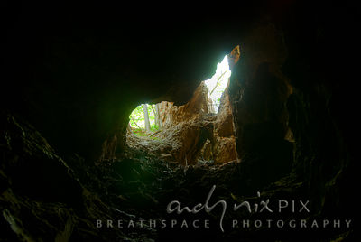 Sterkfontein Caves: Light comes in through one of the natural openings into the caves.
