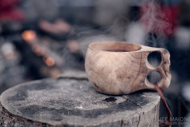 Traditional cup made of wood