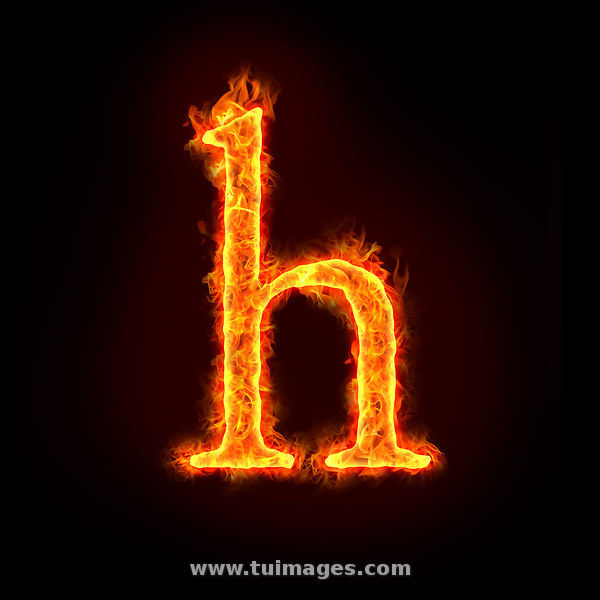 H Letter In Fire Hd The gallery for -->...