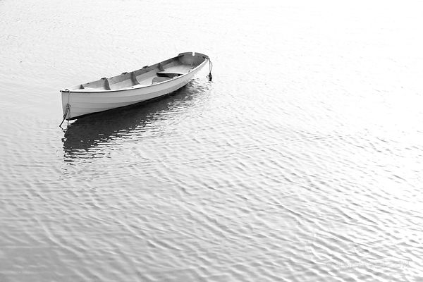 BOAT ROCKPORT CAPE ANN MASSACHUSETTS BLACK AND WHITE