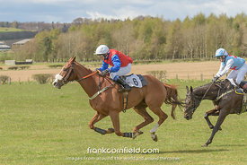 LEVEN, SCOTLAND - APRIL 28, 2018:  Crawford Robertson on Frankie's Promise the Turcan Connell Fife Foxhounds and NAPP Conditions Race. on Chanceiton.
