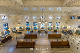 Waiting Room of the Elegant King Street Station in Seattle