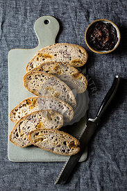 Fig bread and fig jam
