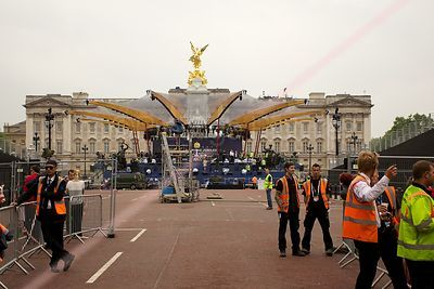Preparations for the Buckingham Palace Concert