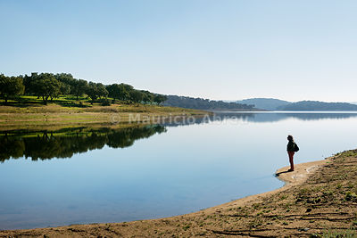 The tranquility of Minutos dam near Arraiolos. Alentejo, Portugal (MR)