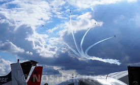 The sky above Roskilde Airshow