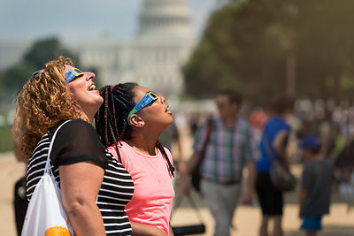 8/17-watching the eclipse watchers photos