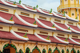 Cao Dai Temple Building Rooftop
