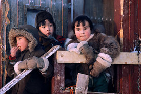 Eskimo Children in Greenland.