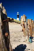 Groynes and Spurn Head Lighthouse, East Yorkshire