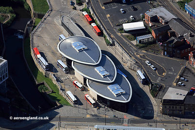 Rochdale Interchange (Rochdale Bus Station)  Rochdale Greater Manchester UK from the air
