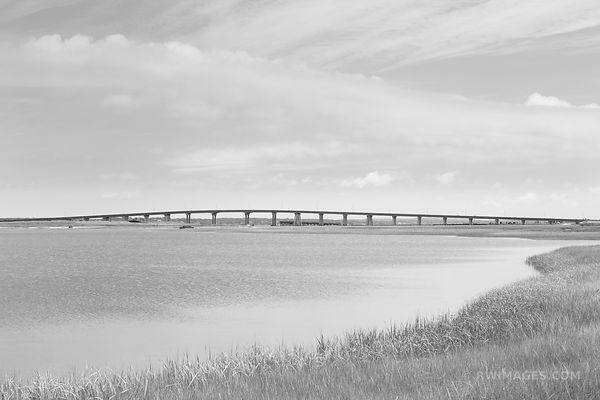 PONQUOGUE BRIDGE HAMPTON BAYS LONG ISLAND NEW YORK BLACK AND WHITE