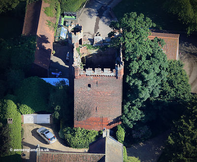 Rochford Tower,  Fishtoft, Boston Lincolnshire, England, UK aerial photograph