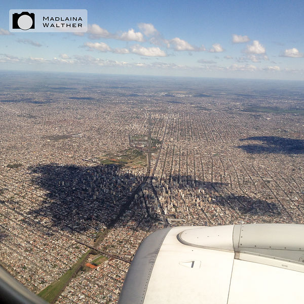 Flying over the mega city of Buenos Aires...