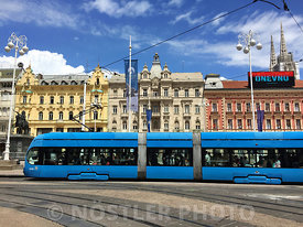 "It's difficult to ""capture"" the square, without one of the 190 trams constantly in use comes across - Ban Jelačić Square (Trg bana Josipa Jelačića) is the central square of the city.  