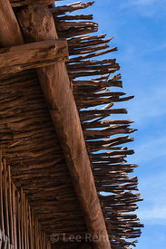 Roof Detail with Branches on Barn at Hubbell Trading Post