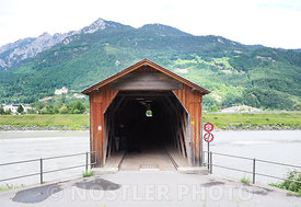 The Swiss/Liectenstien border