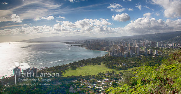 View of Honolulu from Diamond Head Crater