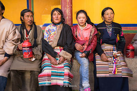 Local people at Dreprung Monastery in Lhasa, Tibet.