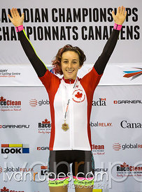 U17 Women's Individual Pursuit podium. 2015 Canadian Track Championships, OCtober 10, 2015