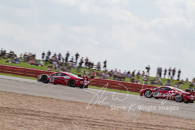 The AF Corse Ferrari 458 Italia GT3 team in action at the Silverstone 500 - the third round of the British GT Championship 2014 - 1st June 2014