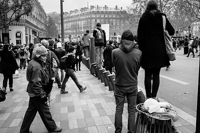 Manifestants place de la République.