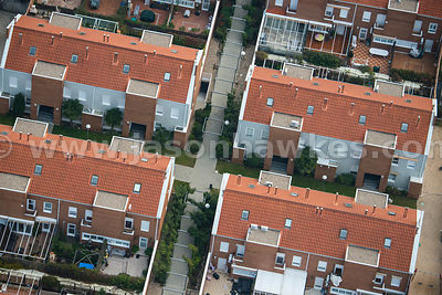 Aerial view of housing in Boadilla De Monte, Spain