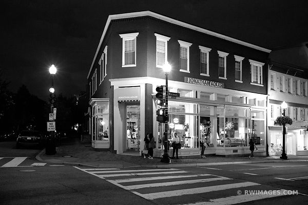 GEORGETOWN EVENING NIGHT WASHINGTON DC COLOR