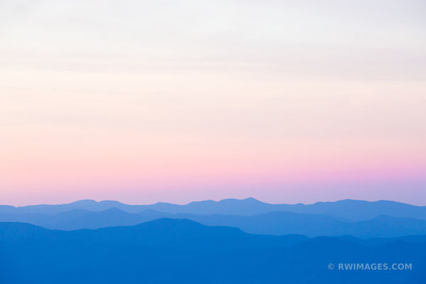 BEFORE SUNRISE CLINGMANS DOME SMOKY MOUNTAINS RIDGES COLOR