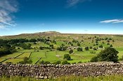 Village of Healaugh underneath Calver fell in Swaledale.