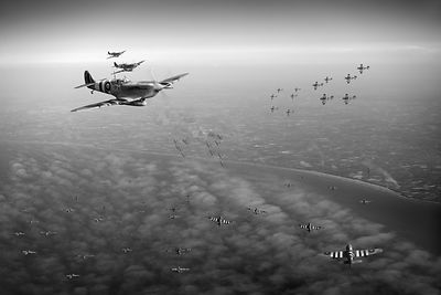D-Day Operation Mallard black and white version