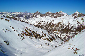 Ski resort Isola 2000 French Alps