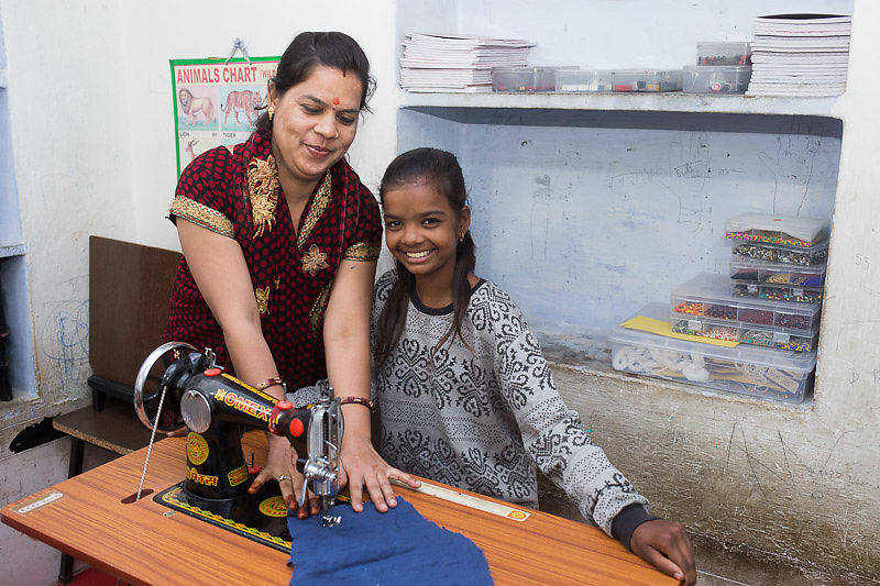 Our teachers are skilled seamstresses, and we teaching sewing in school