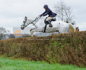 Alice Robb jumping a hedge near East End