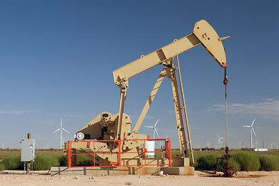 Pump Jack and Wind Turbines #2