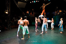 Young perforemrs at the Phare Circus, Siem Reap, Cambodia