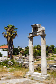 The Ancient Market Place, Kos Town, Kos Island, Dodecanese Islands, Greece.