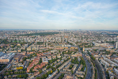 Aerial view of West Kensington, London