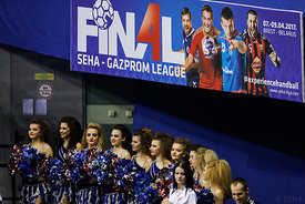 Cheerleaders during the Final Tournament - Final Four - SEHA - Gazprom league, Vardar - PPD Zagreb in Brest, Belarus, 07.04.2017, Mandatory Credit ©SEHA/ Stanko Gruden