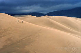 Hikers in the Dunes | Great Sand Dunes National Park, CO