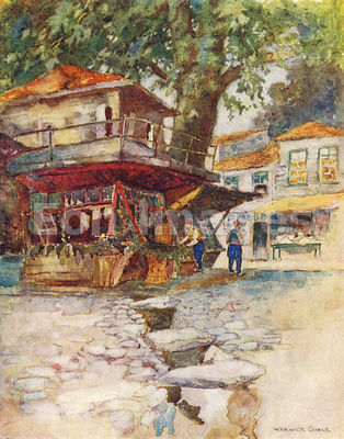 Village store at Kavak by Warwick Goble