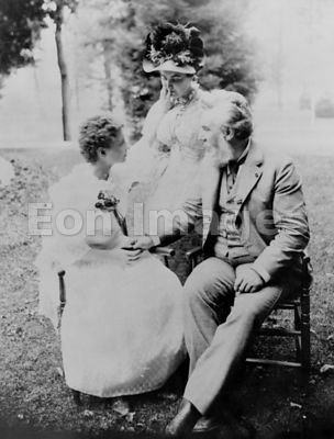 Alexander Graham Bell with Helen Keller and Annie Sullivan