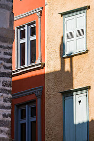 Colored facades, Le Puy en Velay
