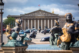 Paris, place de la Concorde, Assemblèe Nationale