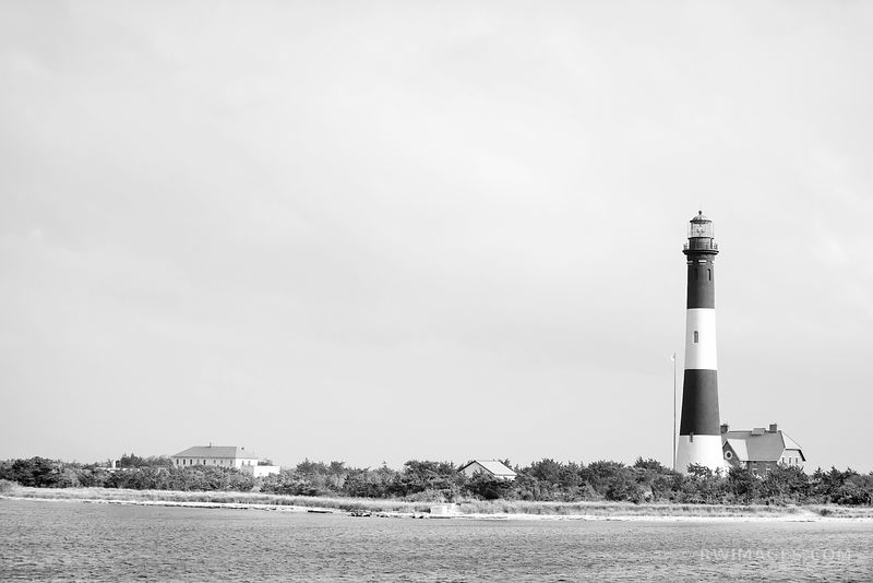 FIRE ISLAND LIGHTHOUSE FIRE ISLAND NEW YORK BLACK AND WHITE