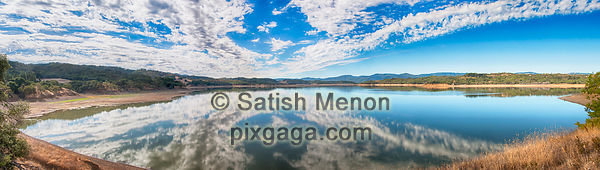 Clouds and Reflection, Lake Mendocino, CA, USA